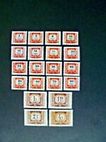 Hungary 1965-69 Twenty Stamps Postage Due Issue Used - See Description & Images