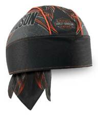 Harley-Davidson Men's Tribal Edge Piping Perforated Headwrap, Black HW29364