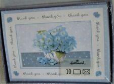 New Blue Hydrangeas Marjolein Bastin Box Hallmark 10 Thank You Cards & Env