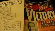 Victory Waltz 1940 sheet music Tommie Connorlyrics  Tony Bond
