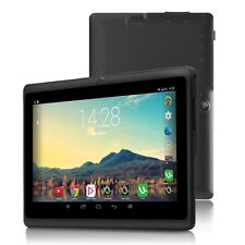 "iRULU 7"" Tablet 8GB Google Android 4.4 Quad Core Dual Cam 1024*600 Wi-Fi Black"