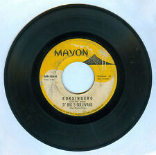 Philippines D' BIG 3 SULLIVANS Boksingero OPM 45 rpm Record