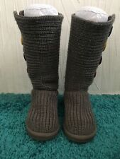 Girls Ugg Boots Grey Cardy Size 13