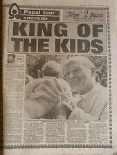 HISTORICAL NEWSPAPER The Sun Papal Tour Souvenir Pope Visit Melbourne 29-11-1986