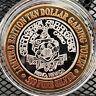"""Circus Circus Reno """"Lion"""" $10 Silver Strike Gaming Token .999 Silver"""