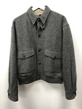 Polo Ralph Lauren Vintage Grey Wool Button Up Jacket - Size Medium