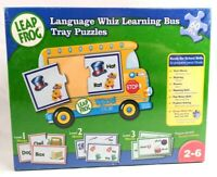 2006 LEAP FROG LANGUAGE WHIZ LEARNING BUS TRAY PUZZLES - NEW - WORD BUS