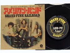 "GRAND FUNK RAILROAD We're AnAmericanBand/Creepin' ECR-10405 JAPAN 7"" 034az56"