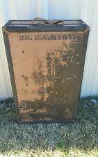 ANTIQUE Vintage STEAMER  TRUNK UPRIGHT WARDROBE Travel CHEST STEAMPUNK Suitcase