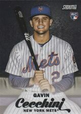 2017 TOPPS STADIUM CLUB GAVIN CECCHINI SS METS ROOKIE #SCC-82 BLACK CHROME SSP