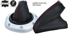 RED STITCH TOP GRAIN LEATHER GEAR & HANDBRAKE GAITER FOR MG TF MGTF MK2 00-06