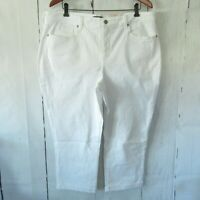 New NYDJ Not Your Daughters Jean 18W Optic White Chloe Crop Capri Plus Size