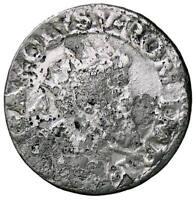 r38_30) NAPOLI Carlo V Imperatore (1519 - 1554) Doppio scudo FALSO D' EPOCA AG