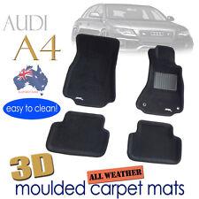 To suit AUDI A4 B8 2008 - 2016 Black CARPET 3D Floor Mats