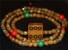 Tibetan antique worry prayer beads mala amulet dice old bracelet necklace tibet