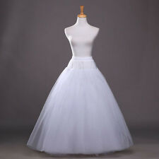 US White Petticoat Underskirt Wedding Gown Party Crinoline Petticoat Skirt Slip