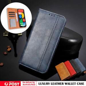 Leather Wallet Card Magnetic Flip Case Cover For Google Pixel 5 4A 5G 4 3 3A XL