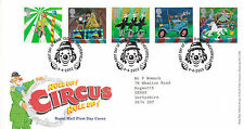 9 APRIL 2002 CIRCUS ROYAL MAIL FIRST DAY COVER CLOWNE CHESTERFIELD SHS