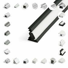 Schiene LED Profil Aluminium Clips Endkappen 1-2 Meter