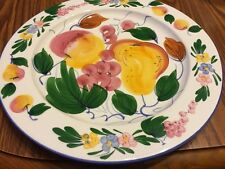 Eddie Bauer made in Italy Charger Plate Fruit Dinnerware