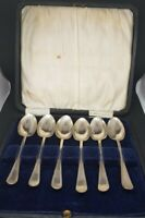 Antique Sheffield Hallmarked set of 6 Silver Tea Spoons Spoons Larder & Burgess