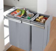 30 Liter Tandem 2 Fach Mülltrennung Abfallsammler Küche ab 30cm Schrankbreite