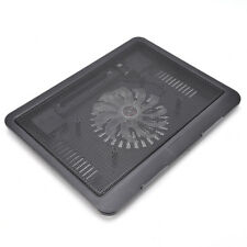 "Laptop Cooler Cooling Pad Base Big Fan USB Stand for 14"" LED Light Notebook"