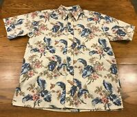 Reyn Spooner Hawaiian Traditionals S/S Button Front Shirt Adult M Medium Nice