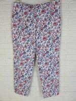 Charter Club Pant Shop Tummy Control Cotton Floral Pants Classic Fit Size 10