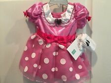 NWT Disney Store Baby Minnie Mouse Costume 6 12 Mo NEW Pink Dress Halloween Girl