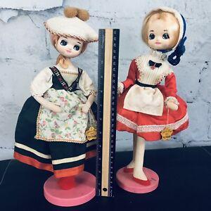 "Vintage Big Eye Sakura Doll 2 Dolls with Tags 14"""