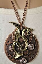 "Victorian 3D Steampunk Necklace With Fashion Dragon 20"" Chain"