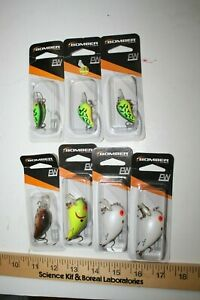7 ct BOMBER Fishing Lures Shallow A + Fire Tiger Tiny Crank - CB65