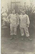 WWI French Real Photo PC- Soldier- Work Training Uniforms- Hat- Boots- Cigarette
