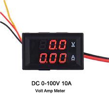 DC 100V 10A LED Digital Display voltios de corriente Medidor de Voltaje Voltímetro Amperímetro AMP