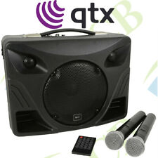 QTX PORTABLE PA SYSTEM WITH BLUETOOTH & 2 UHF WIRELESS MICROPHONES PERFORMANCE