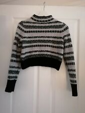 Topshop Knitted Cropped Long Sleeve Fair aisle jumper - Size 10