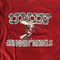 Vintage 90s Starter UNLV Red Graphic T Shirt Single Stitch Short Sleeve Size M