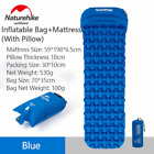 Naturehike NH가벼운 에어 매트/ 1인용(베개 포함)-Blue(Mattress+Inflatable Bag) / 야외용 탠트 매트/