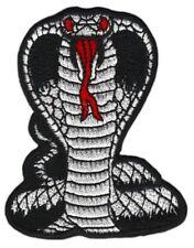 an45 Kobra Schlange Schwarz Snake Cobra Aufnäher Patch Bügelbild 6,4 x 8 cm