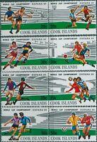 Cook Islands 1981 SG815-822 World Cup Football set MNH
