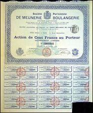 SOCIETE PARISIENNE DE MEUNERIE BOULANGERIE 100 FRS PARIS 1900 - N°22742