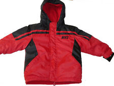 NEW NIKE BOMBER JACKET RED BLACK 2T /2 YEARS PUFFER COAT WINTER RAIN AUTHENTIC