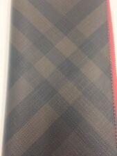 NEW AUTHENTIC BURBERRY LUXURY LONDON CHECK ZIP AROUND LARGE WALLET CLUTCH