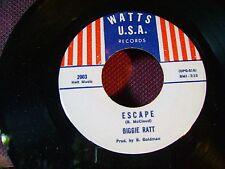 ORIG MINT/ FUNK NORTHERN SOUL 45~BIGGIE RATT~ESCAPE/WE DONT NEED NO MUSIC~LISTEN