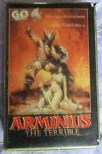 GO PRE CERT, ARMINIUS THE TERRIBLE,  BIG BOX, VHS PAL
