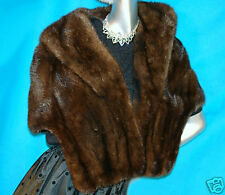 Most Gorgeous DEEP MAHOGANY MINK STOLE FITS SIZES 2-9!!!!