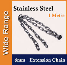 6mm Stainless Steel Extension Extent Chain, Fitting for Shade Sail, Boat