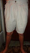 """Eddie Bauer Mens Pleated Shorts Kha Waist 31"""" Inseam 8"""" 100% Cotton"""