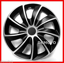 "4x13"" Wheel trims fits Toyota Covers Hub caps 13""  full set black - silver"